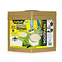 Camco 44534 Tan Fastpath Portable Stones (, Ideal for Providing A Solid Stepping Surface and Keeping Shoes Clean, 10 Pack