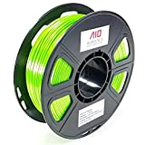 AIO Robotics AIOGREENSILK PLA 3D Printer Filament, 0.5 kg Spool, Dimensional Accuracy +/- 0.02 mm, 1.75 mm, Silk Green