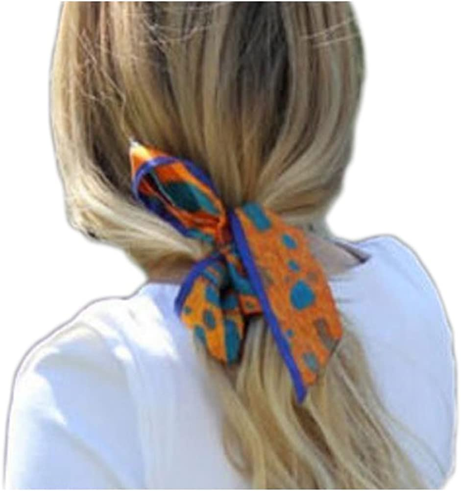 U2BUY Heart Print Silk Scarf Handbag Handle Wrap Ribbon Headband Neckerchie