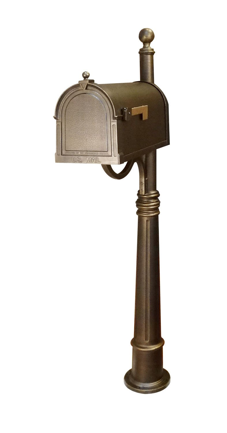 Special Lite Berkshire Curbside Mailbox with Ashland Mailbox Post Unit - Hand Rubbed Bronze by Special Lite Products Company, Inc.