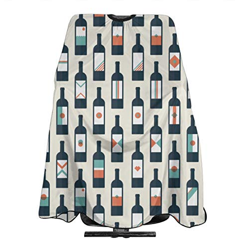 Wine Bottles Salon Hair Cutting Cape Cloth Barber Hairdressing Wrap Haircut Apron Cloth Styling Accessory For Unisex