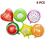 Cdet 6pcs Fruits Decor Balloons Foil Balloons Birthday Wedding Party Decor Balloons Decoration Gift Festival