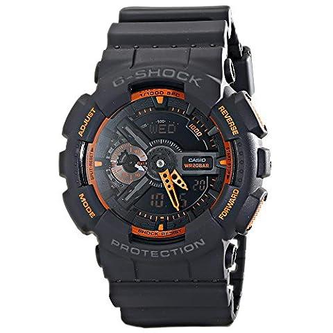 Casio Men's GA-110TS-1A4 G-Shock Analog-Digital Watch With Grey Resin Band (G Shocks X Large)