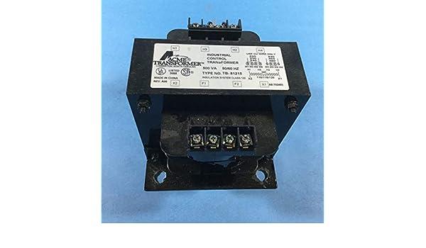 0.5kVA 50//60Hz Acme Electric TB81215 Transformer Industrial Control 208//240//277//380//480V Pri 24V Sec 1-Phase Copper