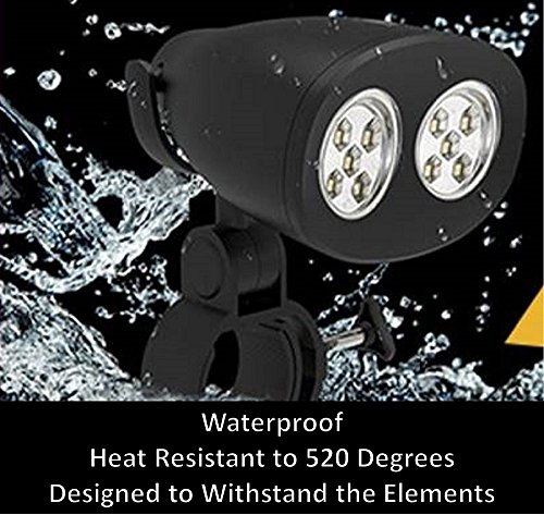 Laughing Walrus BBQ Grill Light - Waterproof, Heat Resistant Barbecue Grill Light with Super Bright LED Lights by Laughing Walrus