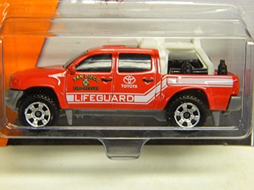 Matchbox Toyota Tacoma San Diego Fire Recue Lifeguard Truck Red
