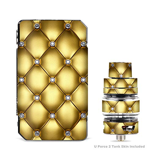 IT'S A SKIN Decal Vinyl Wrap for VooPoo Drag 2 V2 & UForce T2 Tank Vape Sticker Sleeve Cover/Gold Diamond Chesterfield -