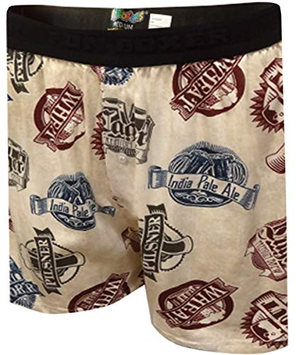 Fun Boxers Beer Craft Boxer Shorts for Men-Large