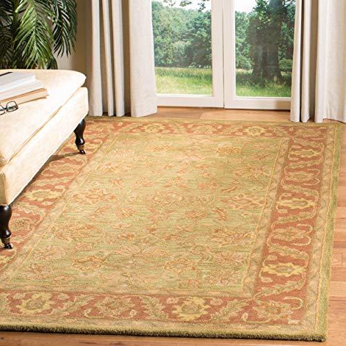 (Safavieh Golden Jaipur Collection GJ250A Handmade Green and Rust Premium Wool Area Rug (4' x 6') )