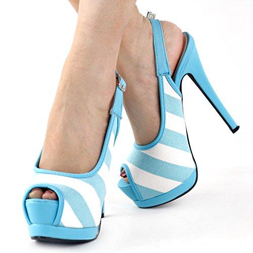 Show Story - Zapatos con tacón mujer Azul - azul