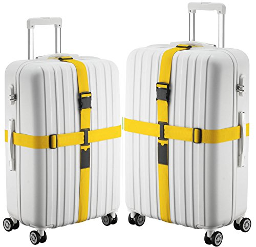 TRANVERS 2Sets Cross Way Luggage Strap B - Quick Release Luggage Belt Shopping Results