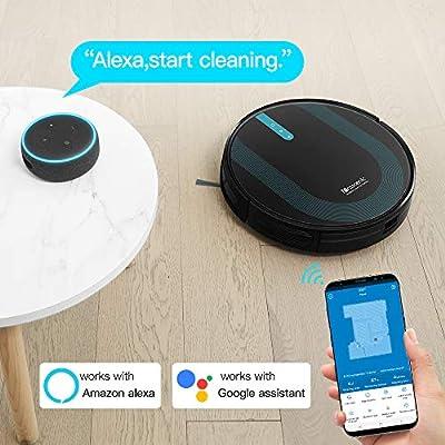 proscenic 850T - Robot Aspirador y Fregasuelos, 3000Pa, Compatible con Alexa & Google Home, Muro Magnético, Depósito y Tanque 2 en 1 para Aspira, Barre, Friega y Pasa la Mopa: Amazon.es: Hogar