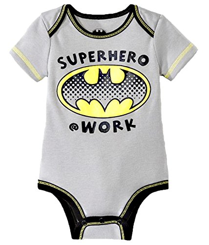 Batman Baby Boys Super Hero Bodysuit T Shirt (12 Months)