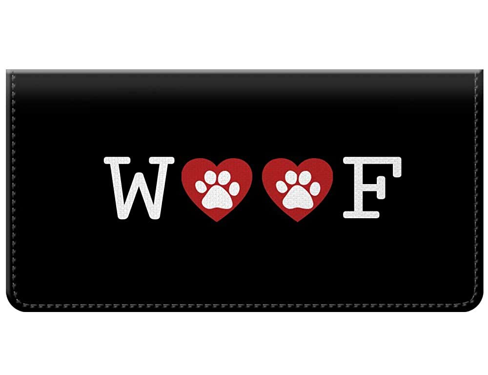 Snaptotes Dog Woof Paw Print Checkbook Cover 011-000D0034-Woof