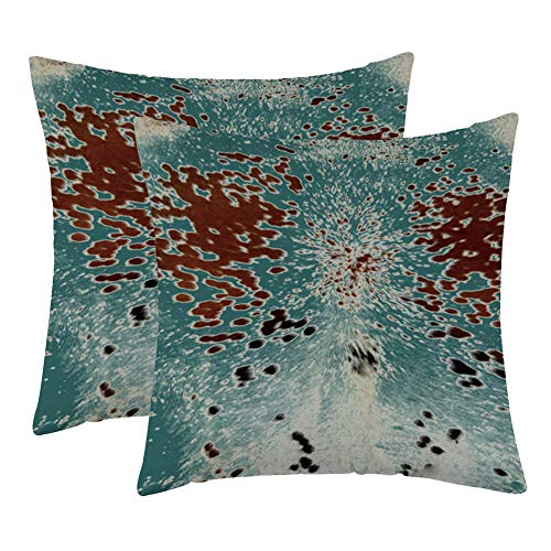 WFLOSUNVE Farmhouse Faux Cowhide Decorative Throw Pillow Covers 18