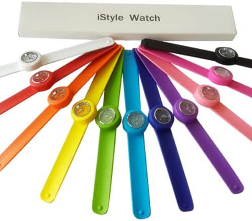 Istyle® Slap Watch Quartz Sports Watch Wrist Unisex 12 Colors for Choosing