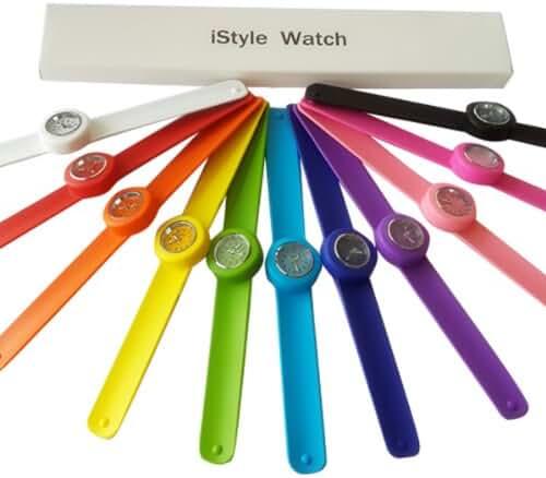 Istyle® Slap Watch Quartz Sports Watch Wrist Unisex 12 Colors for Choosing