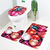 Home Decor,Pandaie Christmas Decorations Clearance 3pcs Christmas Suction Grip Bath Mat Bathroom Kitchen Carpet Doormats Decor