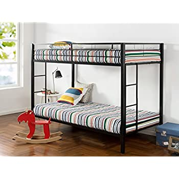 Zinus Easy Assembly Quick Lock Twin over Twin Classic Metal Bunk Bed with  Dual Ladders. Amazon com  Zinus Easy Assembly Quick Lock Metal Bunk Bed with