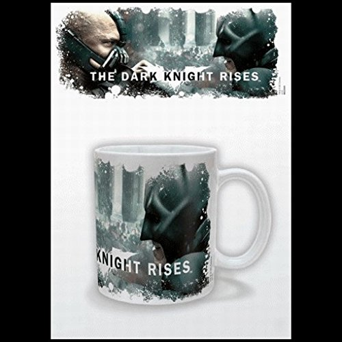 Set: Batman, The Dark Knight Rises, Mask Photo Coffee Mug (4x3 inches) and 1 Batman, Keychain Keyring For Fans (2x2 inches)
