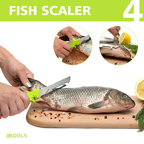 kools Clever 8-in-1 Food Chopper Set - with Chopping Board and Detachable Knife, Ideal as Vegetable and Meat Chopper or Slicer, Bottle Opener, Peeler, including Sharpener and Finger Guard by kools (Image #4)