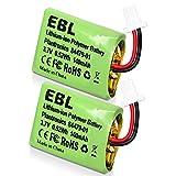 EBL Replacement Headset Battery CS540 84479-01 for Plantronics CS540, 84479-01, 86180-01, CS540A, CS540, C054 Wireless Headsets 2 Pack
