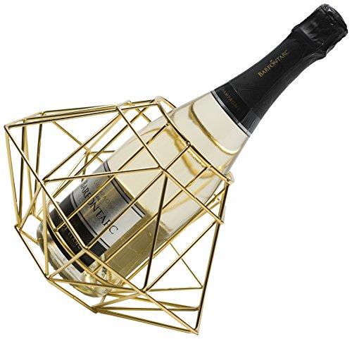 LUDI-VIN 5060388472290Door Bottle Diamond Gold Dore Metal Finish 26x 26x ()