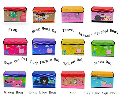 Captivating Amazon.com : VANORIG Non Woven Toy Chest, Collapsible Storage Trunk, Cute  Cartoon Children Storage Box, Lidded Toys Storage Bins, Baby Toy Box (SKy  Blue ...