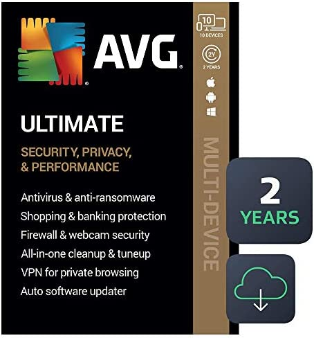 AVG Final 2020   Antivirus+Cleaner+VPN   10 Units, 2 Years [PC/Mac/Mobile Download]