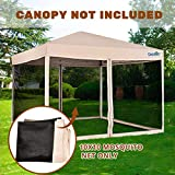 Quictent Pop up Canopy Screen Walls Replacement Mosquito Netting for 10x10 Canopy Tent Gazebo (Walls Only, Canopy Not Included)