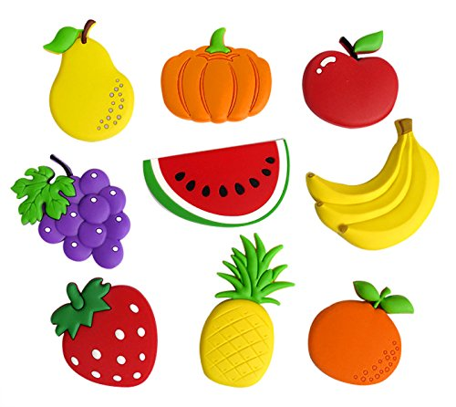 Fridge Magnets Cute Cartoon Fruits Fridge Magnets Home Magnetic Cartoon Decoration Kids Funky Toys ()