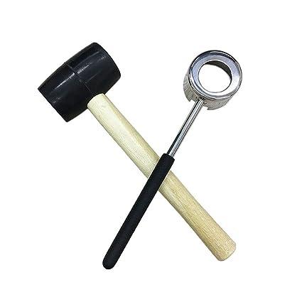NANHONG Abridor de cuchillos de coco de acero inoxidable con mango de pl/ástico PP