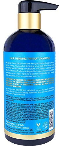 PURA D'OR Hair Thinning Therapy Shampoo for Prevention, Infused with Organic Argan Oil, Biotin & Natural Ingredients, for All Hair Types, Men and Women, 16 Fl Oz (Packaging may vary) by PURA D'OR (Image #1)