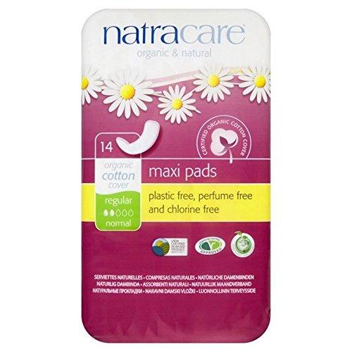 Natracare Organic Natural Maxi Pads Regular 14 per pack (PACK OF 2)