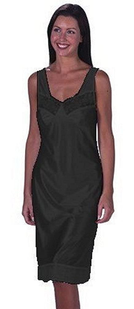 Marlon Lingerie Anti Static Full length Slip Black Size 16