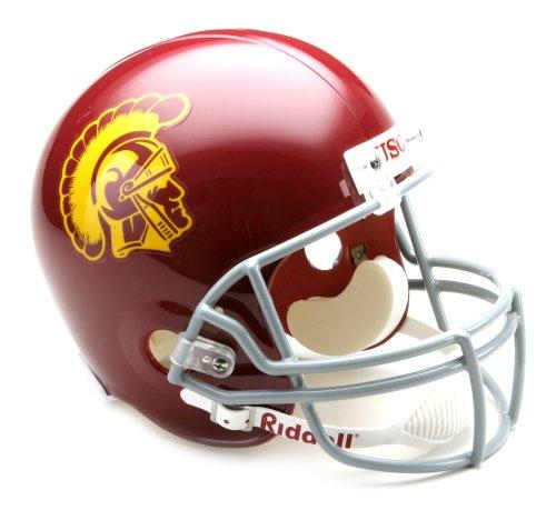 (NCAA USC Trojans Deluxe Replica Football Helmet)