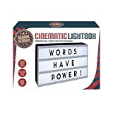 A4 Cinematic Light Box DIY Message White Cinema Lightbox Wedding Party Sign UK