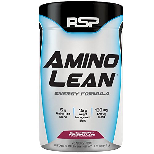 RSP AminoLean – All-in-One Pre Workout, Amino Energy, Weight Loss Supplement with Amino Acids, Complete Preworkout Energy & Natural Fat Burner for Men & Women, Blackberry Pomegranate, 70 Servings