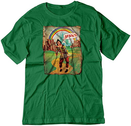 BSW Men's Brains Scarecrow The Wizard of Oz Zombie Shirt LRG Kelly Green (Brain Dead T-shirt)