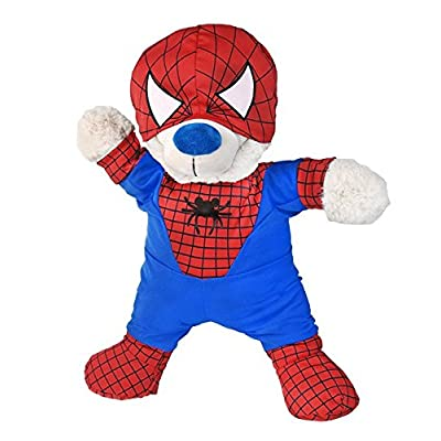 "Spidey Teddy outfit Teddy Bear Clothes Fits Most 14"" - 18"" Build-A-Bear and Make Your Own Stuffed Animals: Toys & Games"