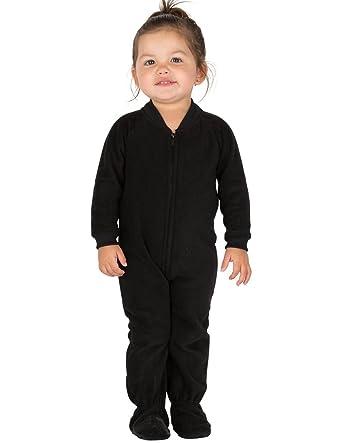 Footed Pajamas - Midnite Black Infant Fleece - Large