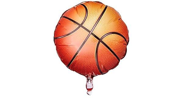 Globo Baloncesto - Redondo 45cm Foil Poliamida - Q21812: Amazon.es ...