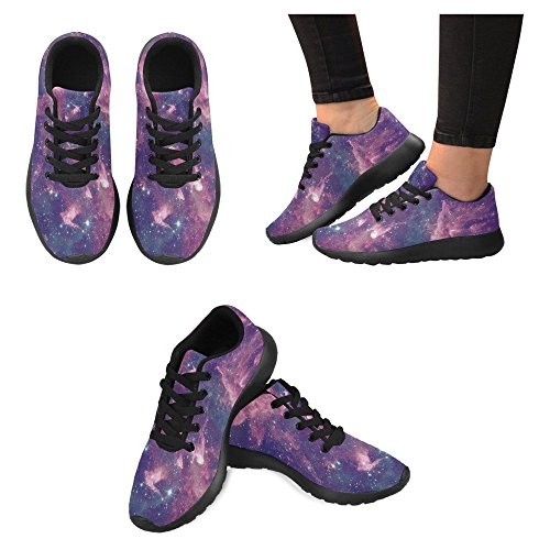 InterestPrint Womens Jogging Running Sneaker Lightweight Go Easy Walking Casual Comfort Running Shoes Far Being shone Nebula and Star Field Against Space Multi 1 MQAoTUUx
