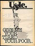 U&lc 8 1986 Statue of Liberty Adam Kurtzman Stanley Morison Cathy Hull