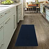 Ottomanson Softy Collection Solid Non-Slip Kitchen/Bath Rug, 20