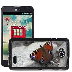 Etui Housse Coque de Protection Cover Rigide pour // M00135082 Insecto Mariposa para colorear color // LG Optimus L70 MS323