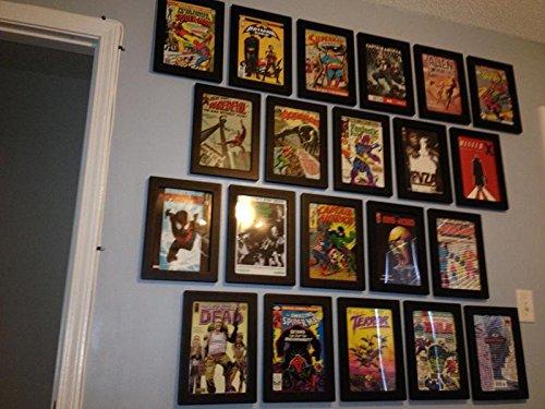 amazoncom comic book pod wood display frame thecollectorsresource brand single frames