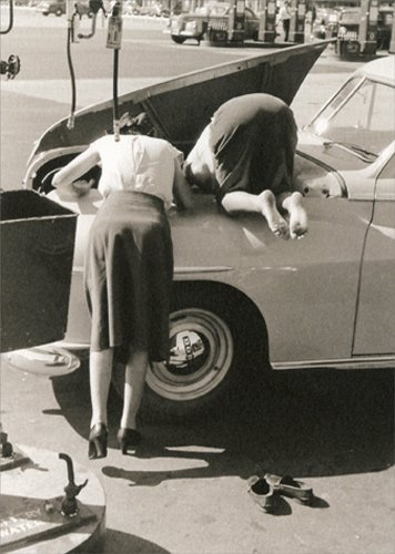 (Female Mechanics - Avanti America Collection Funny Birthday Card)
