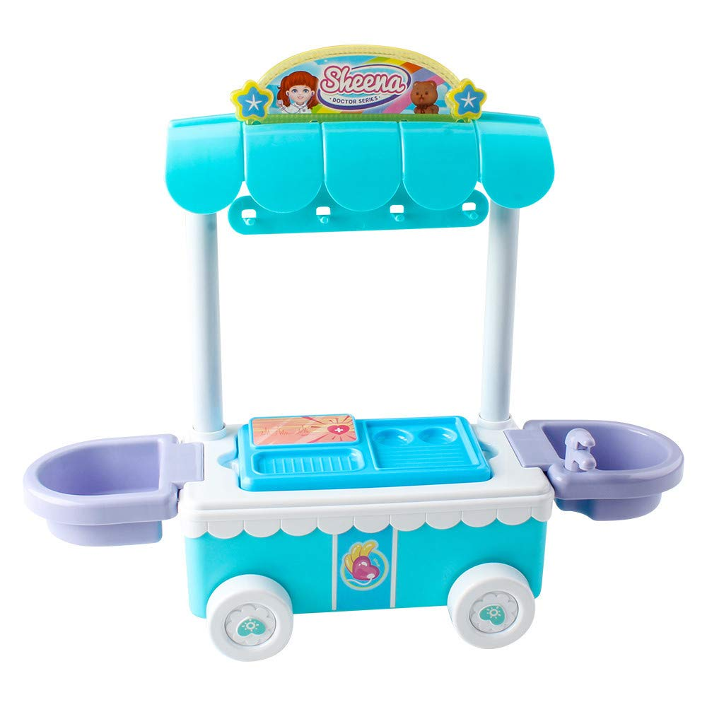 Mother's Day Wheatness Doctor Kit Surgical Car with Music Children Play House Educational Role Play