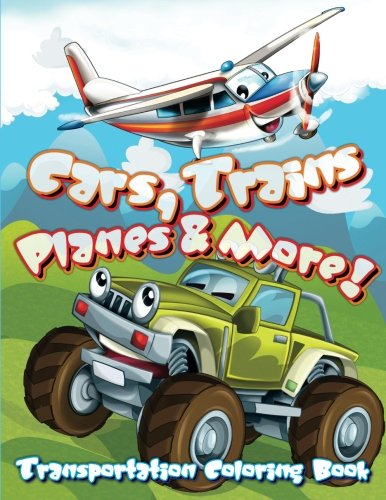 Transportation Coloring Book Trains Planes product image